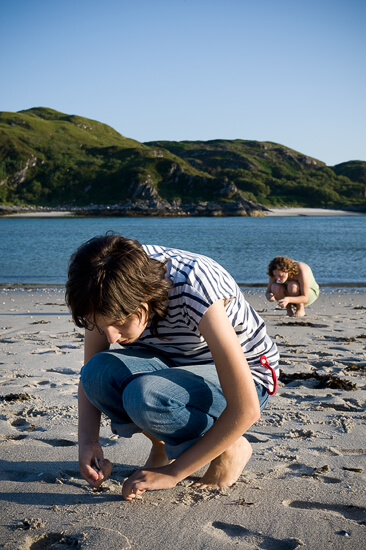 The Twins on the Silver Sands of Morar, Scotland