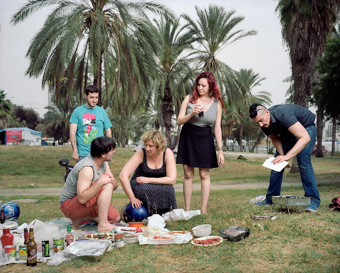 Group of friends who live close to the Park, 2014