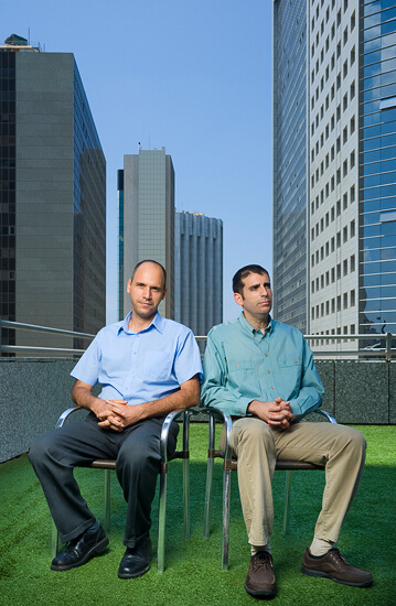 Roy Regev & Avner Hadad, founders of KSM exchange-traded funds management company.
