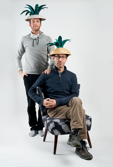 Boaz and myself on shoot for Golf & Co.