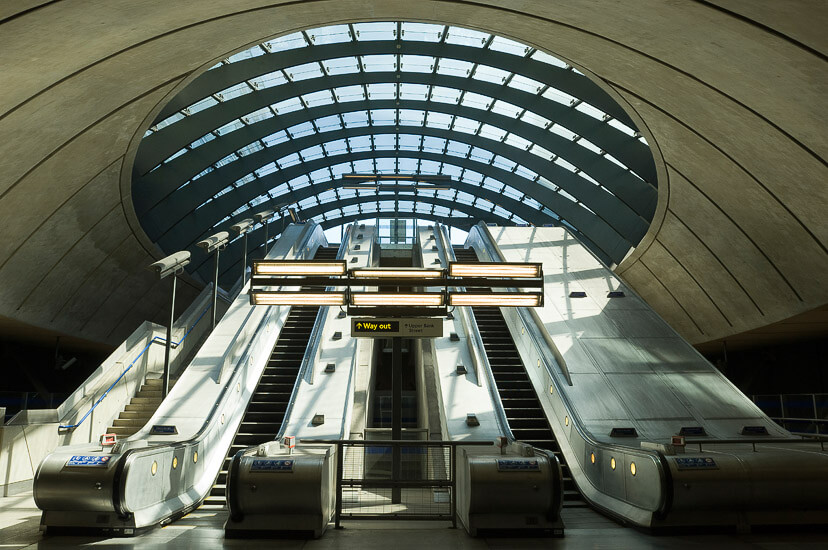 Canary Wharf station, London.