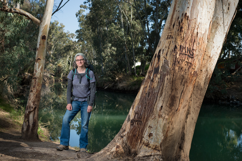 Kelli Stein from Washington DC, by the Jordan River.
