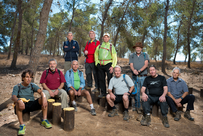 Former cadets from the Acco Naval Officers School, class of 1966, in Dvira Forest.
