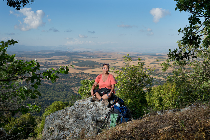 Paty Vilallon at the top of Mount Tabor.