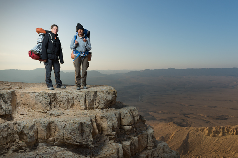 Shelly & Hagar, at Mitzpe Ramon.