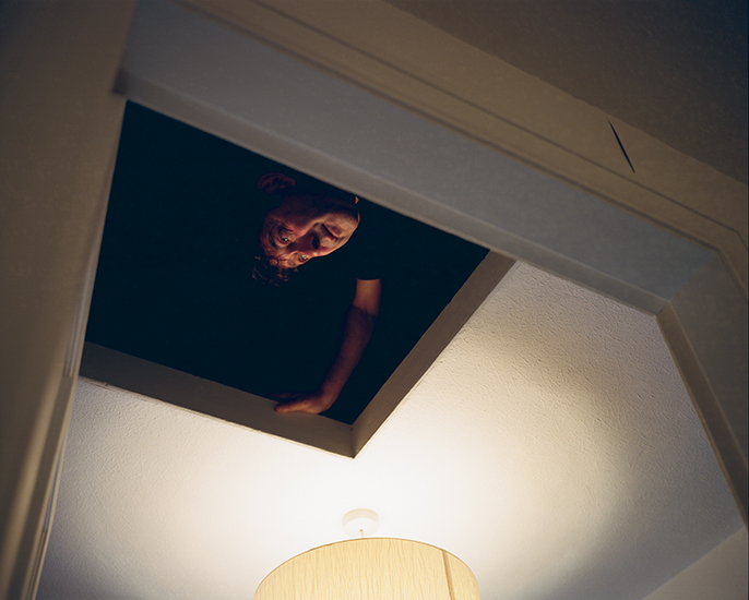 Mark in the cottage attic.