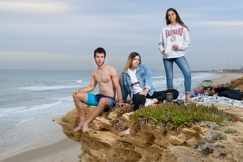 Omri, Lihi & Neta, Bet Yannai Beach, December 2018