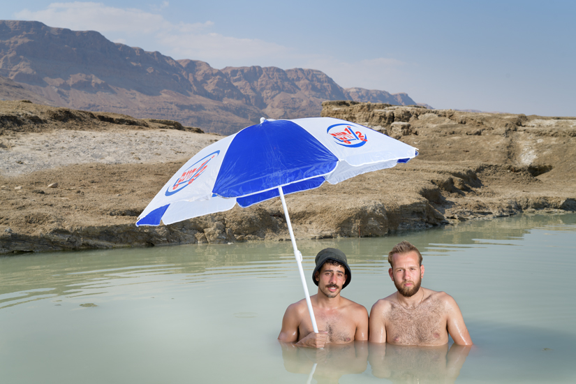 Ido & Shaun, Metzukei Dragot Beach, Dead Sea, September 2020